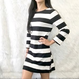 J Crew stripe zip hem dress